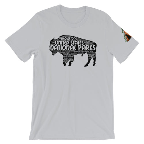 62 National Parks Bison in Black Shirt