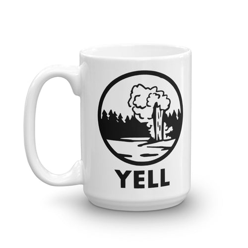 Yellowstone National Park Logo Mug