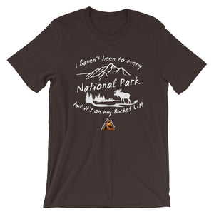National Parks are on my Bucket List T-Shirts