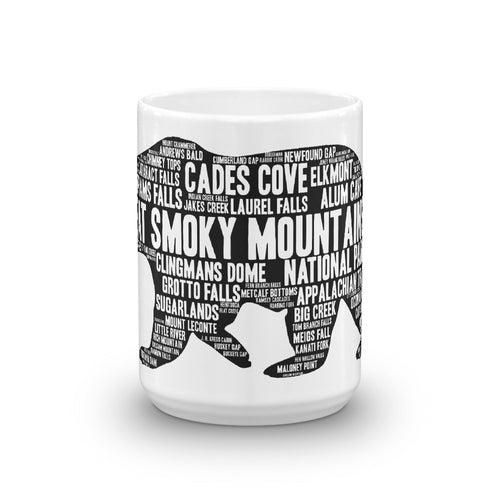 Great Smoky Mountains Bear Mug