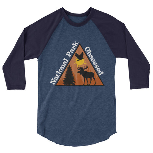 National Park Obsessed 3/4 Sleeve Raglan Shirt
