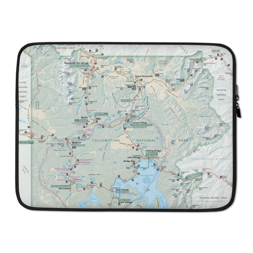 Yellowstone Map Laptop Sleeve