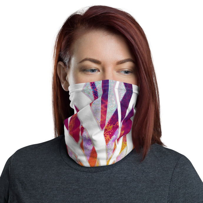 Rainbow Flower Neck Gaiter