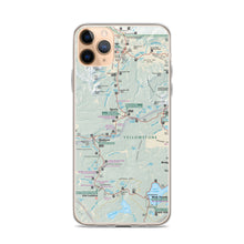 Load image into Gallery viewer, Yellowstone Map iPhone Case