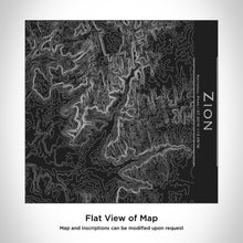 Load image into Gallery viewer, Zion National Park Map Tumbler