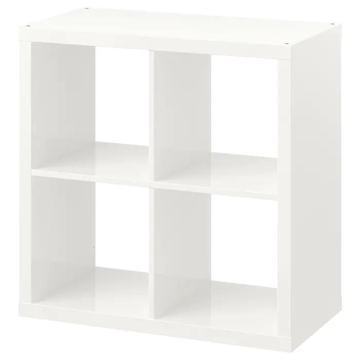 KALLAX 2x2, 77x77cm, High gloss white