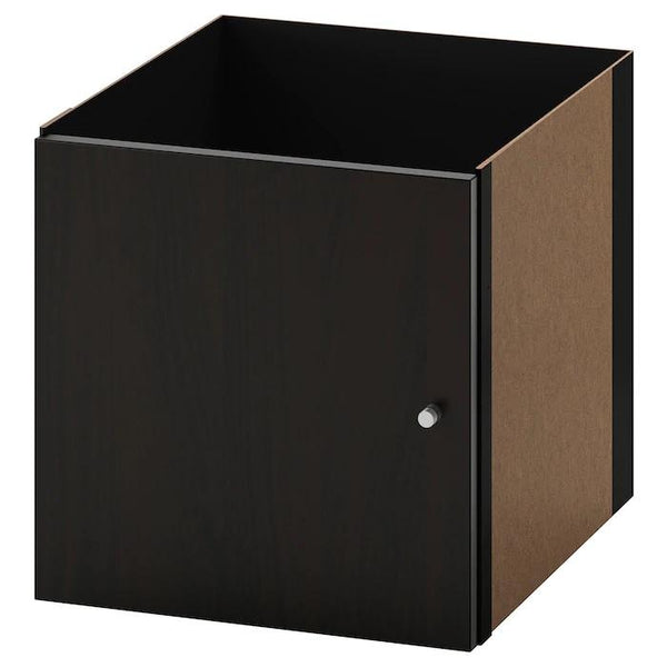 KALLAX insert with door, Black-brown