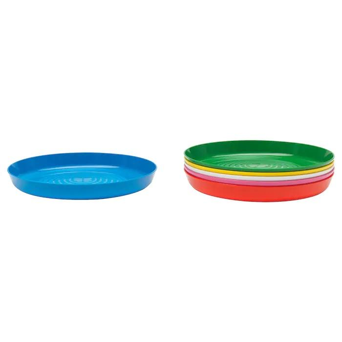 KALAS Plate, 6 pack, Bright multicolour