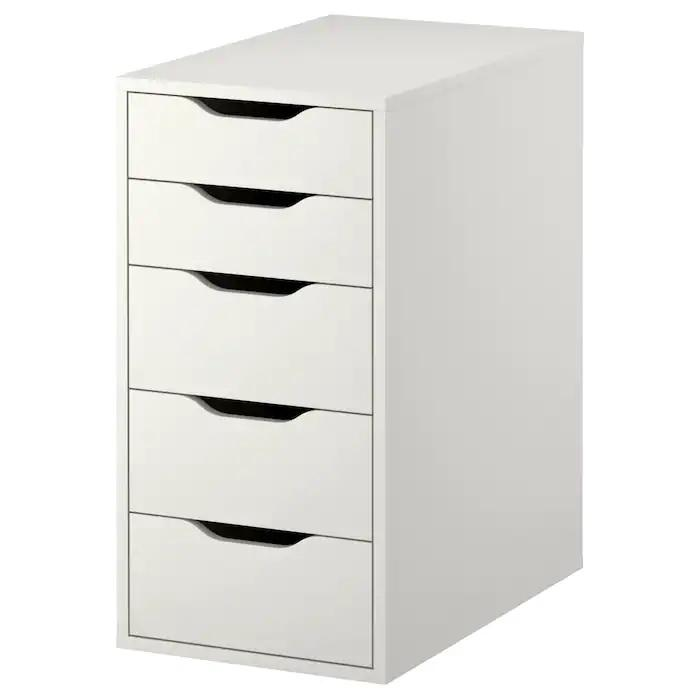 ALEX Drawer unit, 5 drawers, 36x70cm, White