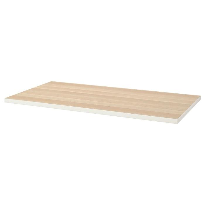 LINNMON Table top, 150x75cm, White/white stained oak effect