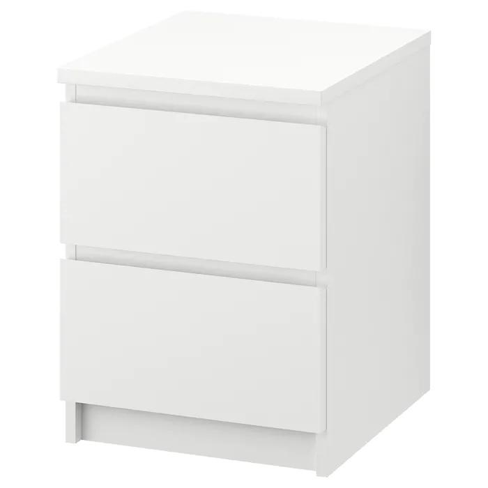 MALM chest of 2 drawers/bedside table, White