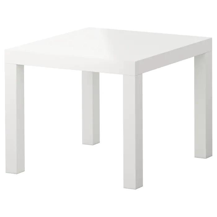 LACK side table, 55x55cm, High-gloss white