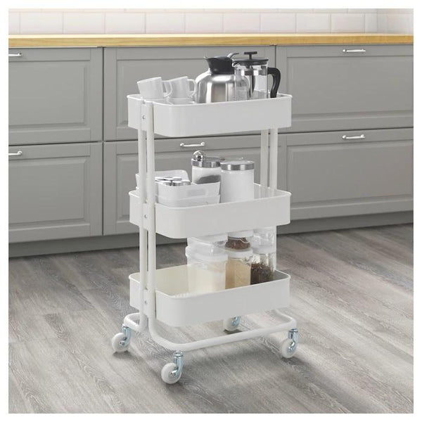 RASKOG  Trolley, White