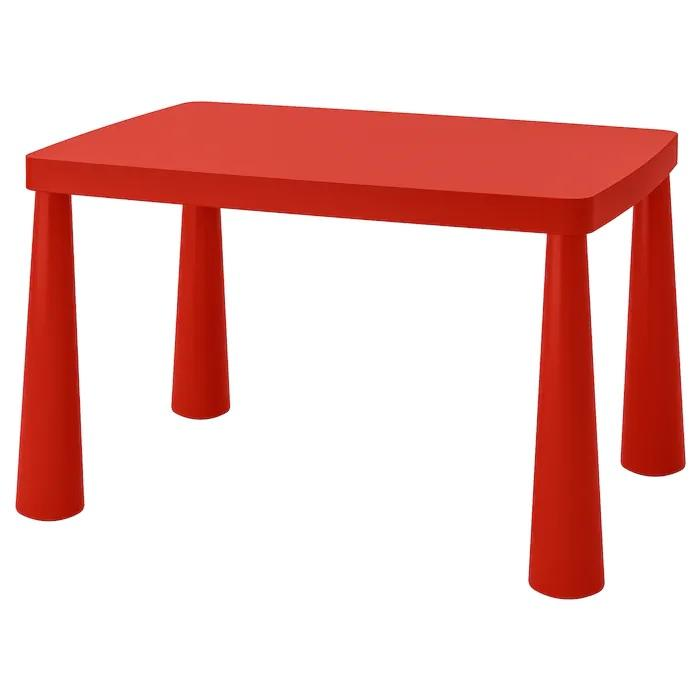MAMMUT  Children's table, 77x55cm, Red