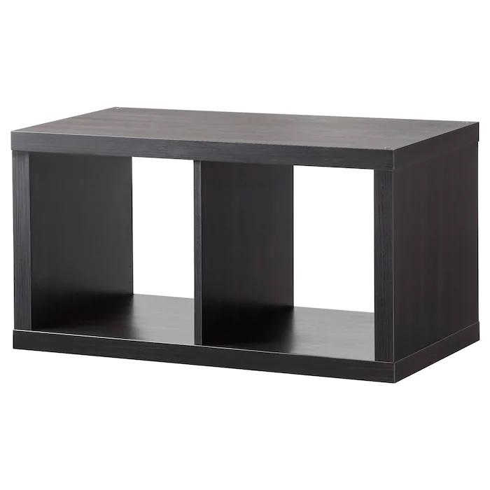 KALLAX Shelving unit, 1X2, Black-brown