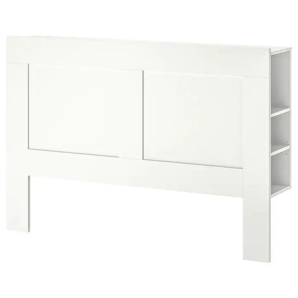 BRIMNES Headboard with storage compartment, double, White