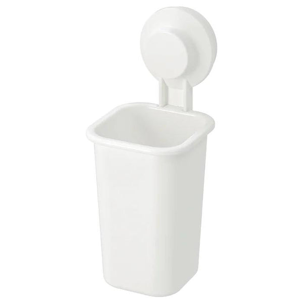 TISKEN Toothbrush holder with suction cup, White