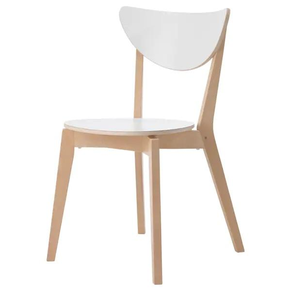 NORDMYRA Chair, White, birch