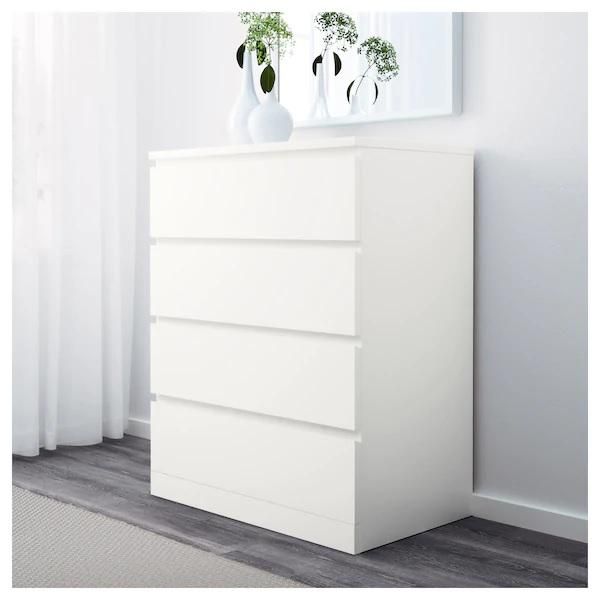 MALM Chest of 4 drawers, White