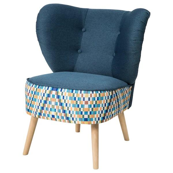 GUBBO Armchair, Navy blue, multi-coloured