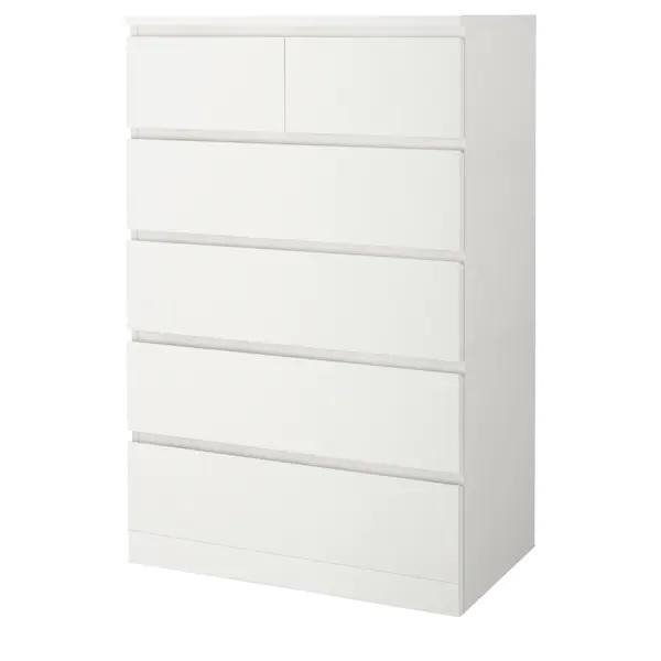 MALM Chest of 6 drawers, 80X123cm Tall, White