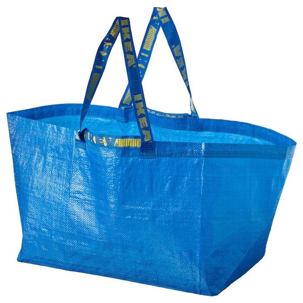 FRAKTA Carrier bag, large, 71 l, Blue