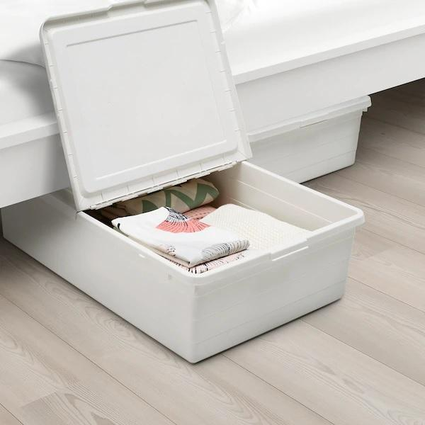 SOCKERBIT Container with cover, 50x77x19cm, White