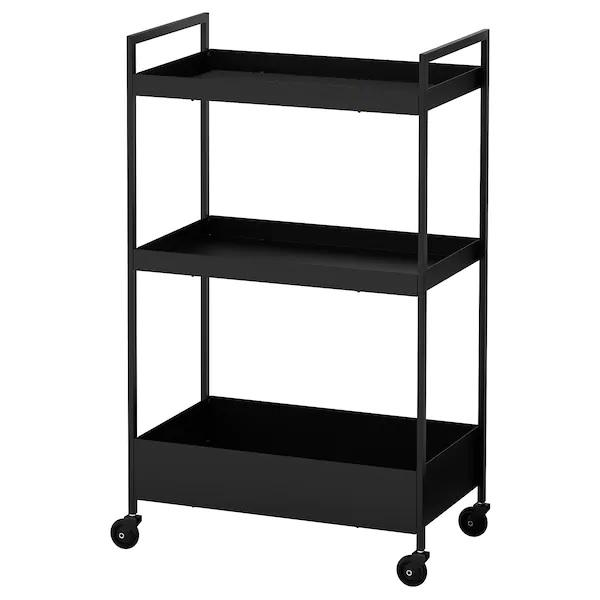 NISSAFORS Trolley, 50.5x30x83cm, Black