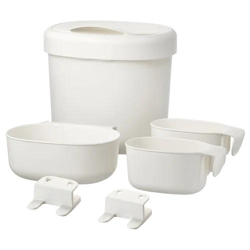 ONSKLIG Stor baskets changing tbl set of 4, White