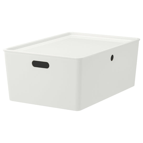 KUGGIS Box with lid, 37x54x21cm, White