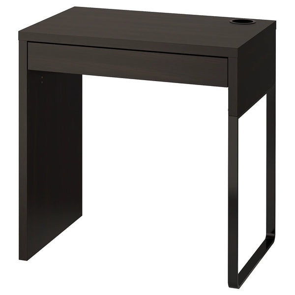 MICKE desk, 73cm, Black-brown
