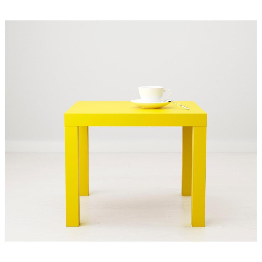 LACK side table, 55x55cm, Yellow