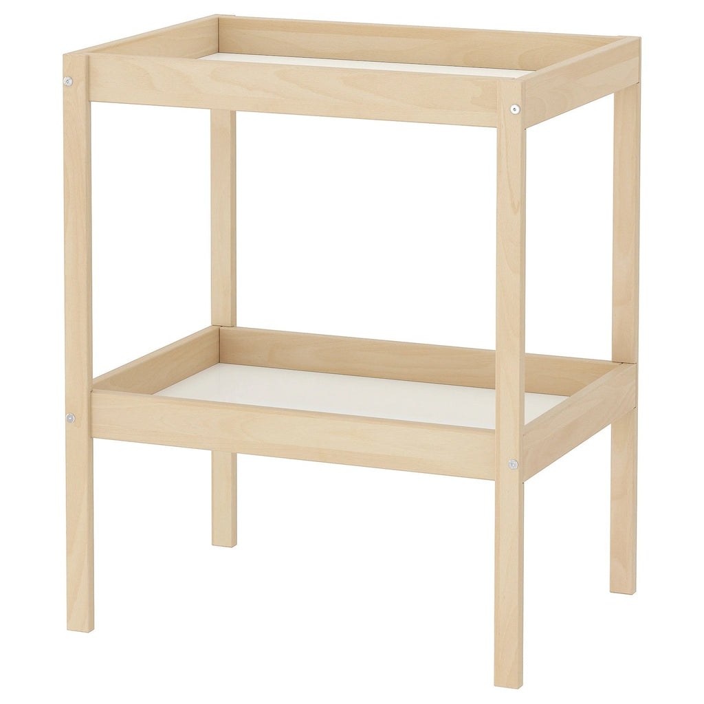 SNIGLAR Changing table, 72x53cm, Beech/white