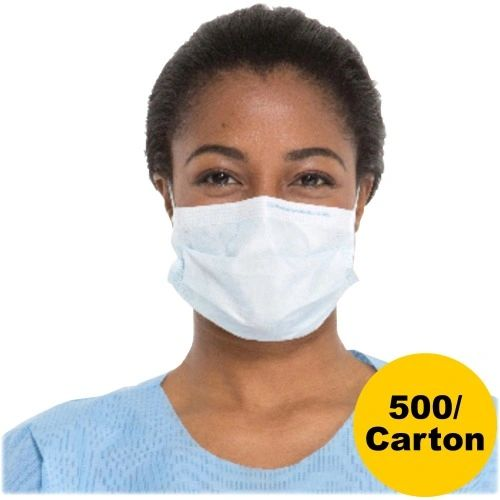Blue Procedure Face Mask, 500/Carton