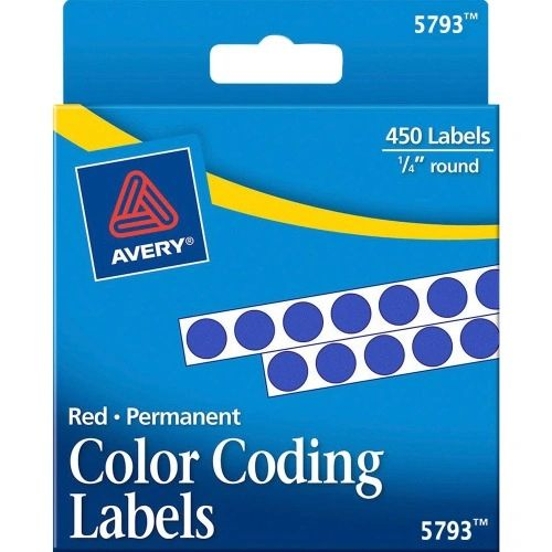 Round Color Coding Labels, 1/4