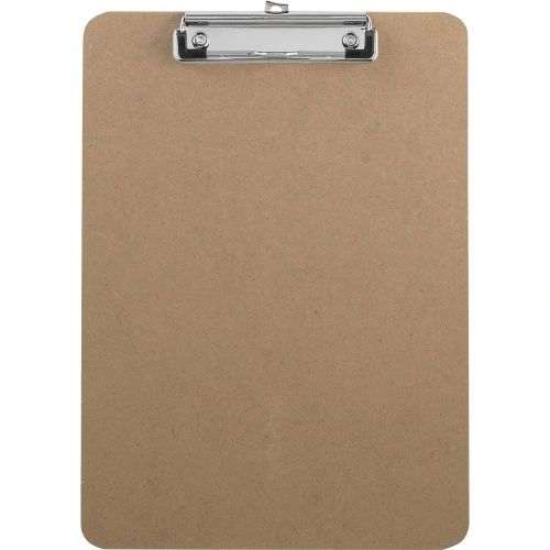 Hardboard Clipboard with Flat Clip, 3/PK