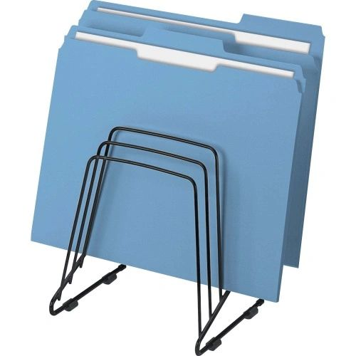 Vertical Folder Step File, 5-Slot, Black