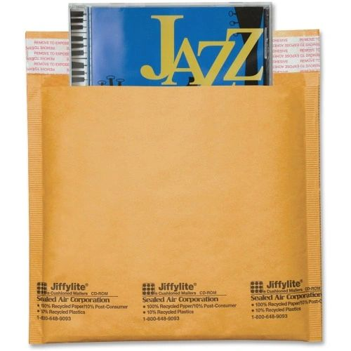 CD-DVD Jiffylite Bubble Envelope, 25/BX