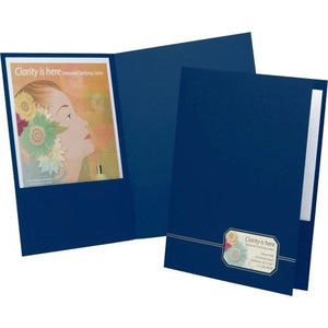 Executive 2-Pocket Folders, Monogram Series, 4/PK