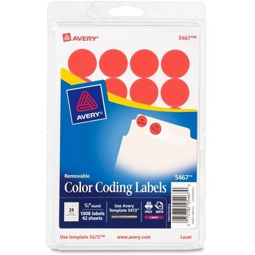 Avery Round Color Label Dots