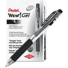"Load image into Gallery viewer, ""WOW"" Retractable GEL Pens, Dozen"