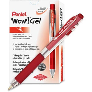 """WOW"" Retractable GEL Pens, Dozen"