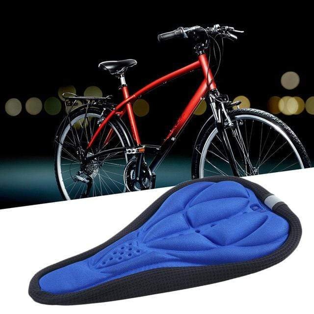 Wow Sports Shop Blue Hot Sale 3D Soft Bike Seat Saddle for A Bicycle