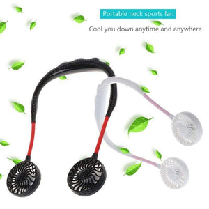 Wow Sports Shop Neck Band Rechargeable Sports Dual Fan