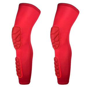 Wow Sports Shop Red / L Long Knee Pads Supporter for  Basketball Football
