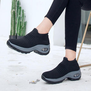 Wow Sports Shop Sock Sneakers Flat Shoes For Women