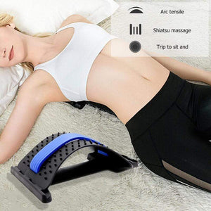 Wow Sportz 1pc Back Stretch Equipment Massager Magic Stretcher Fitness Lumbar Support Relaxation Spine Pain Relief Corrector Health Care