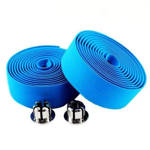 Wow Sportz blue 2pcs Multi-functional Bicycle Handlebar Tape Steering Wheel Cover Road Bike Cycling Handle Non-slip Belt Rubber Tape