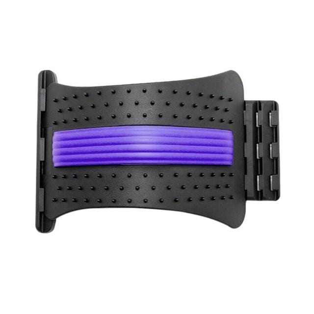 Wow Sportz China / purple 1pc Back Stretch Equipment Massager Magic Stretcher Fitness Lumbar Support Relaxation Spine Pain Relief Corrector Health Care