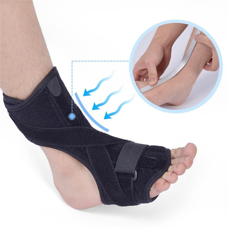 Wow Sportz Drop Foot Brace Adjustable Plantar Fasciitis Dorsal Night Splint Foot Support Ankle Stabilizer Orthotic Foot Pain Relief